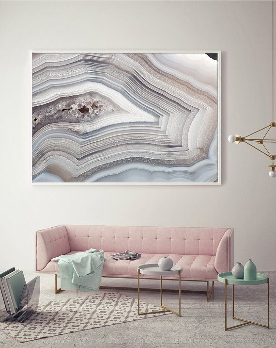 Mineral photography print 051 white and light blue agate fine art print two paper choices mineral geode agate crystal decor