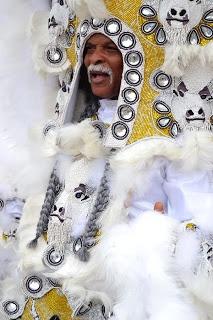 Big Chief David, Washetaw Tribe, Mardi Gras indians, 2013.