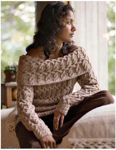Красивый, женственный пуловер