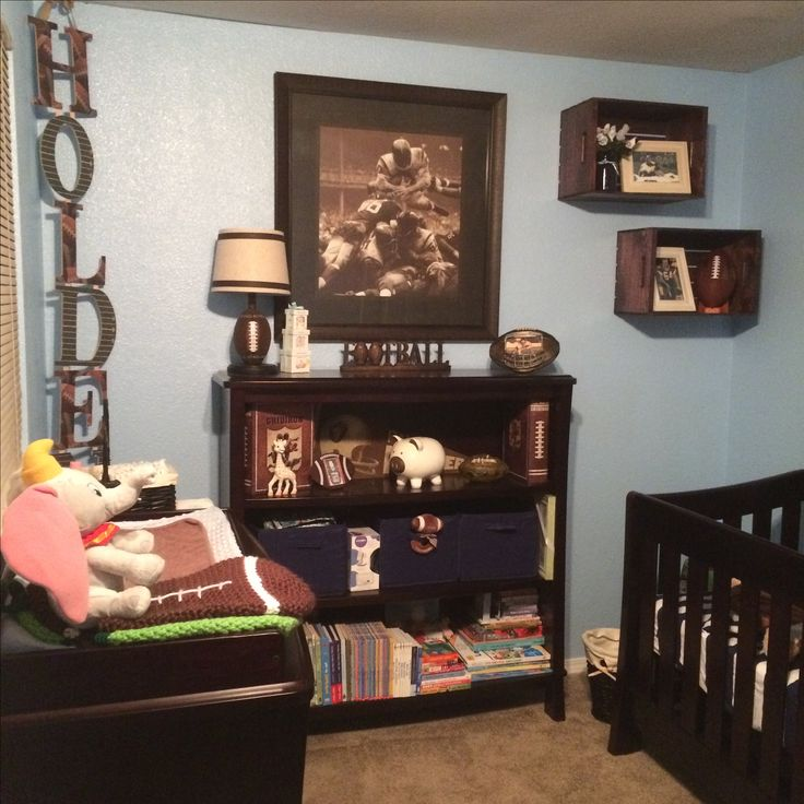 Vintage football themed nursery