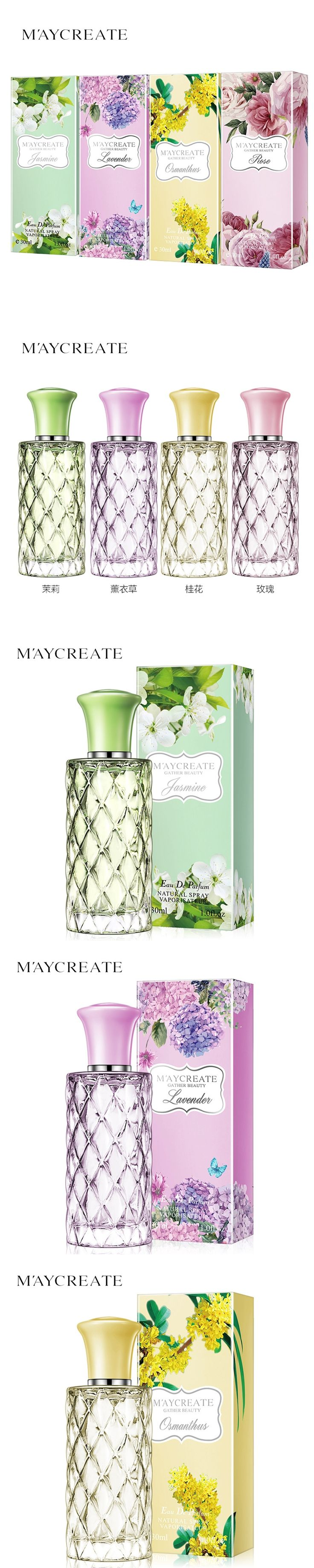 30ml MayCreate Flower Fragrance Lasting Perfume Of Fresh And Elegant Cosmetics Perfume Women Makeup Natural Oriental Taste