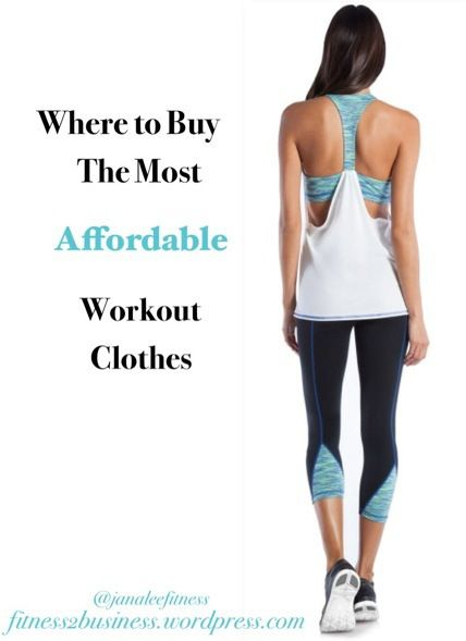 Where to buy the most affordable workout clothes - Fitness2Business JanaLee