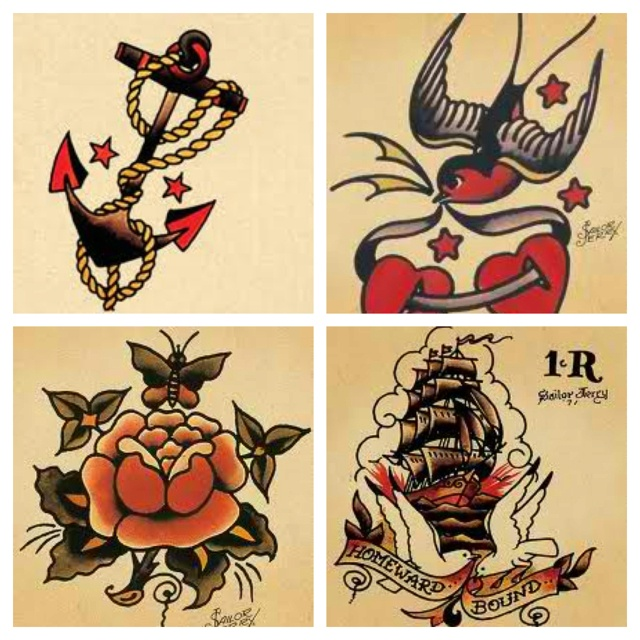 Sailor Jerry Rose Tattoos