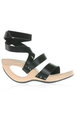 TRIPPEN - Ritzy Wooden Wedge Heel Sandal