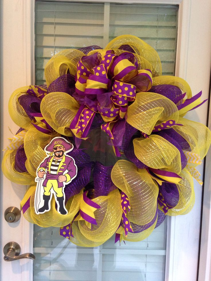 East Carolina University ECU Deco Mesh Wreath