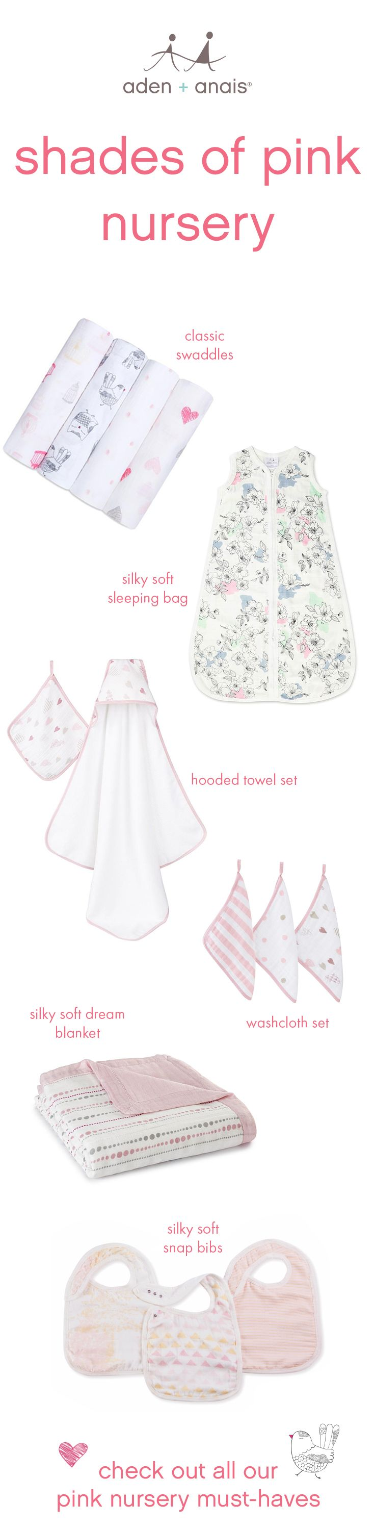 putting together your baby's nursery means decorating the room where they'll grow, dream and hopefully sleep through the night. get inspired with pretty nursery essentials in every shade of pink.