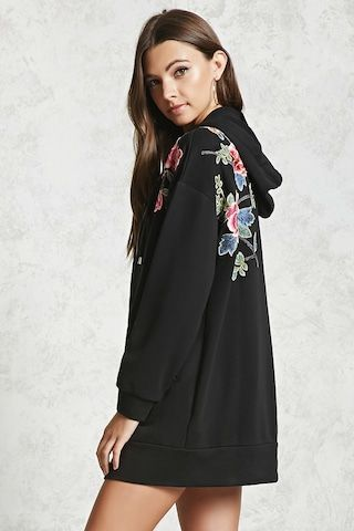 Forever 21 Embroidered Floral Hoodie - $35