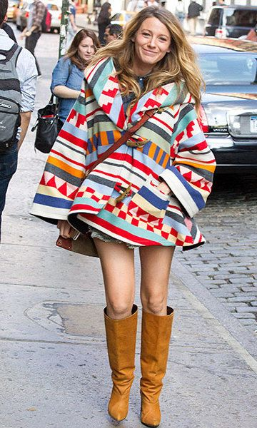 Street style: Blake Lively's colourful maternity style