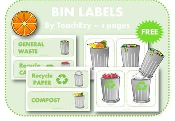 Bin Labels Free Resource