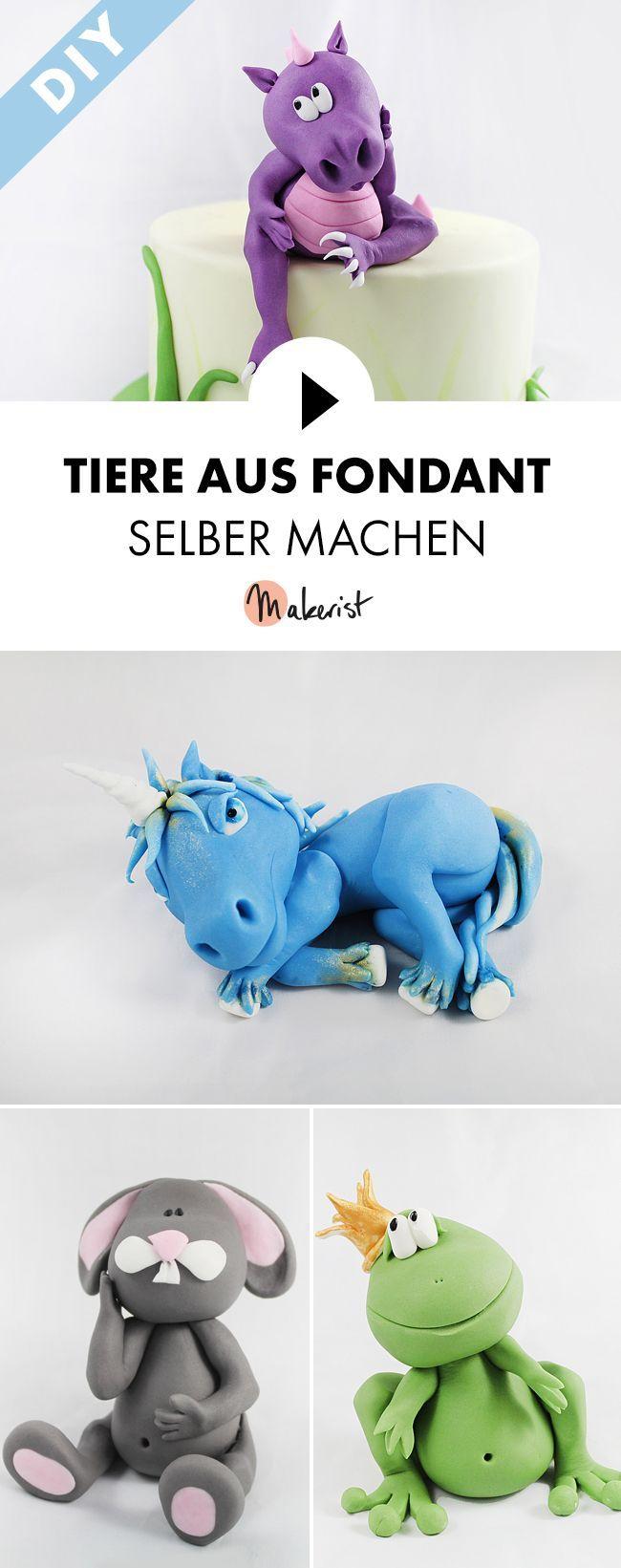 Modellieren von Tierfiguren mit Fondant als Caketopper für Kindergeburtstag – Sc …   – Geburtstagskuchen und -torten