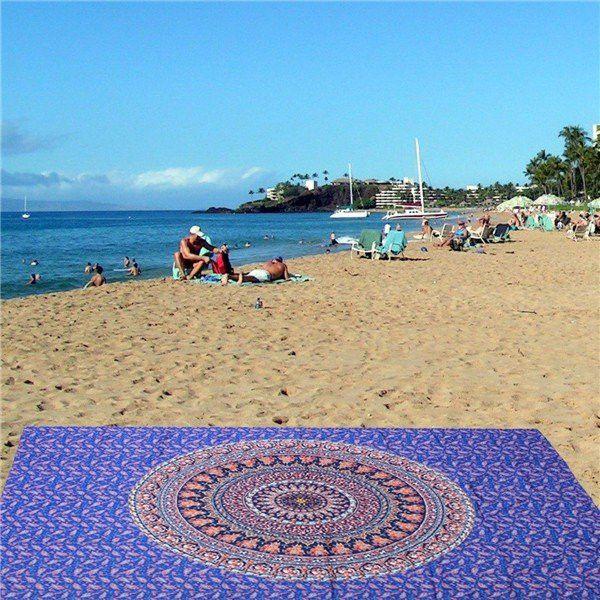 Women Beach Scarf Shawl Swimming Towel Tapestry Hanging Yoga Mat Decor