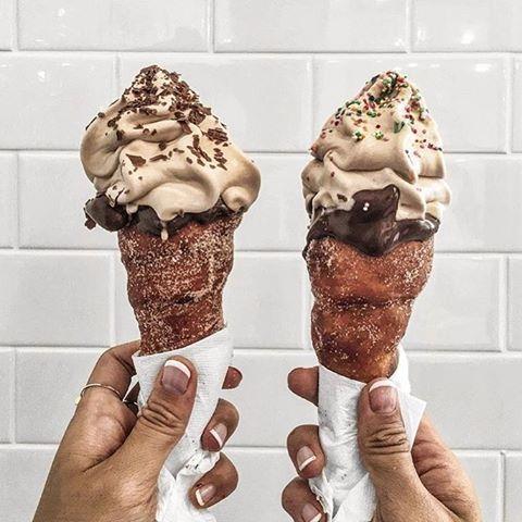 Donut @icecream cone AKA the greatest invention since the wheel @tellaballsdessertbar #EEEEEATS : @koentadyy