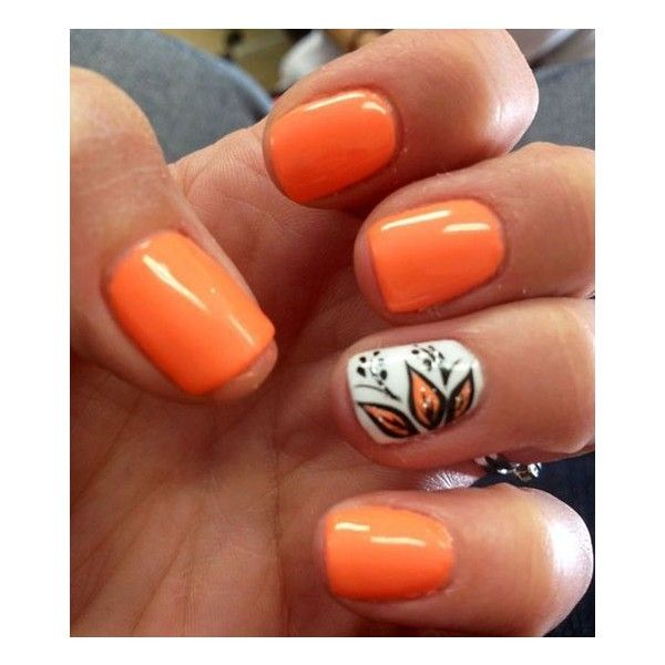 15 Thanksgiving Nail Art Designs You Can Wear All Fall Long ❤ liked on Polyvore featuring nails
