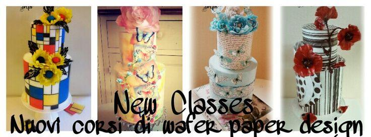 New wafer paper classes #waferpaper #cake #valentinagraniero #flowers #shabbyshic #rose #butterfly #red #blackandwhite #poppy #sugarart