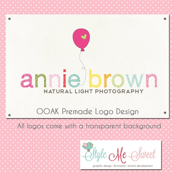 Premade Hand Drawn Logo Design  Fun Text and by stylemesweetdesign, $50.00