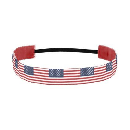 Patriotic American USA Flag Athletic Headband - stripes gifts cyo unique style