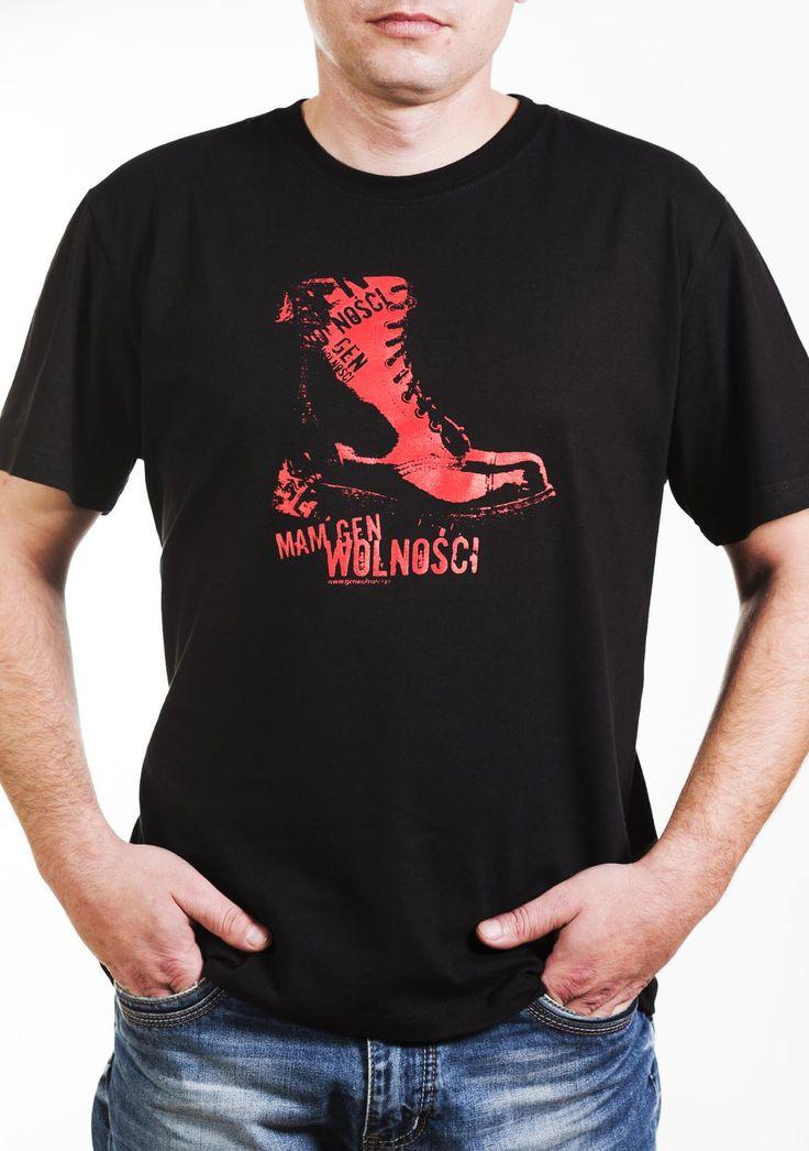 Koszulka glan, Mam Gen Wolności. Projekt: Studio Zakład, www.zaklad.pl