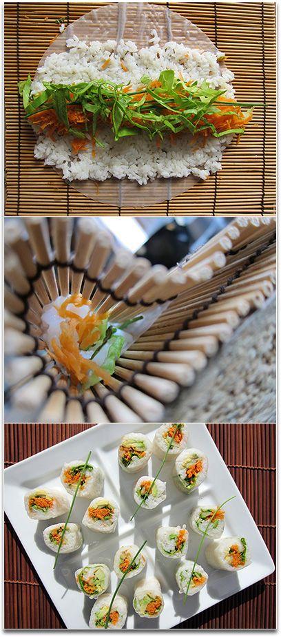Makis Avocat - Concombre - Carottes aux feuilles de riz | Code Planète : blog vegan, guides, recettes, livres