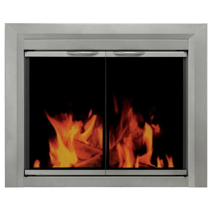 Pleasant Hearth Colby Medium Glass Fireplace Doors-CB-3301 - The Home Depot