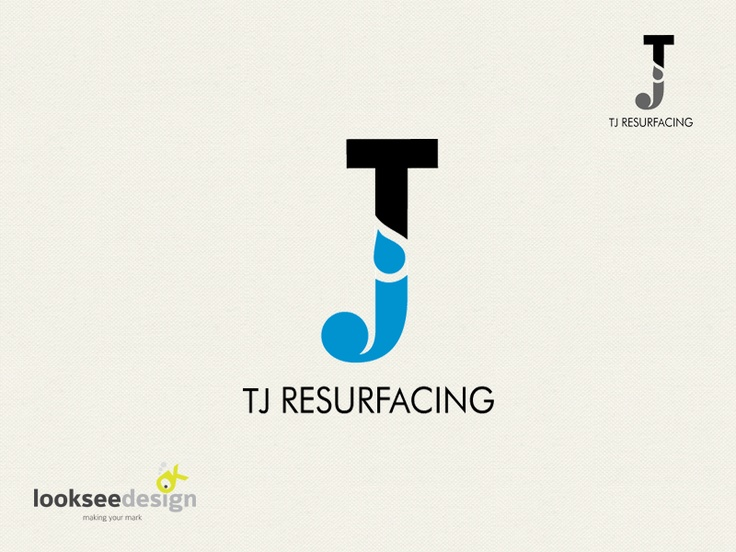 TJ Resurfacing - Logo Designed by Looksee Design