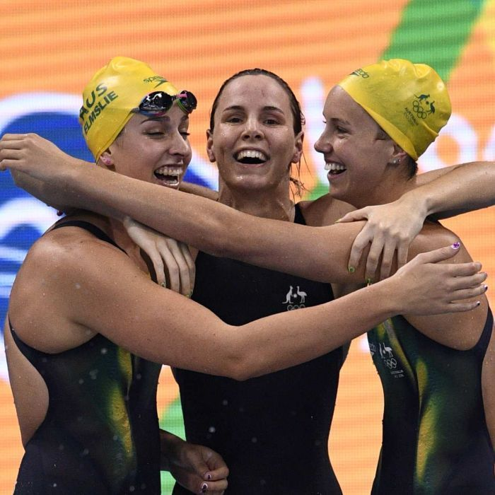 Rio 2016 Cate and Bronte Campbell lead Australia to Olympic 4x100m freestyle relay gold - ABC Online