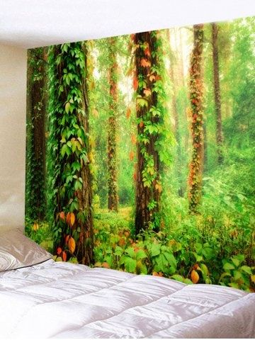 forest vines print tapestry wall art | home decor | pinterest