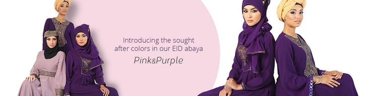 https://flic.kr/p/urSyo1 | Pink & Purple Eid Abayas | Introducing beautiful Pink and Purple Abayas at EastEssence this  Eid.