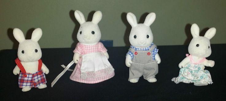 Vintage Sylvanian Families Tomy 1980 s - Cottontail Rabbit Family