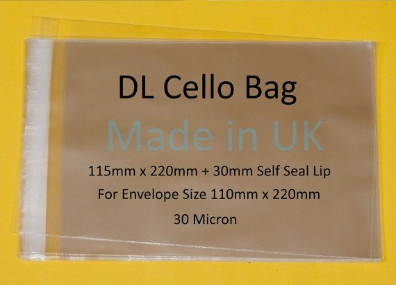 Ideal for enhancing the presentation of cards or crafts, especially for the DL card. Suitable for envelopes size 110 x 220  Great for the presentation and protection of your Bookmarks, Jewellery, Ties Pet accessories etc.  Product Details  The cellos are clear, high clarity and plain, self seal for ease of use  The bags are acid and lignum free  The bags are made from bi-oriented polypropylene (BOPP or OPP), see size image for micron  They are ideal for enhancing the presentation of…