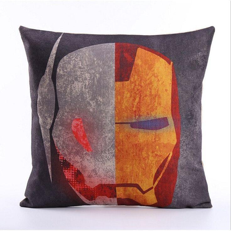 Fashion cartoon, iron man pillow
