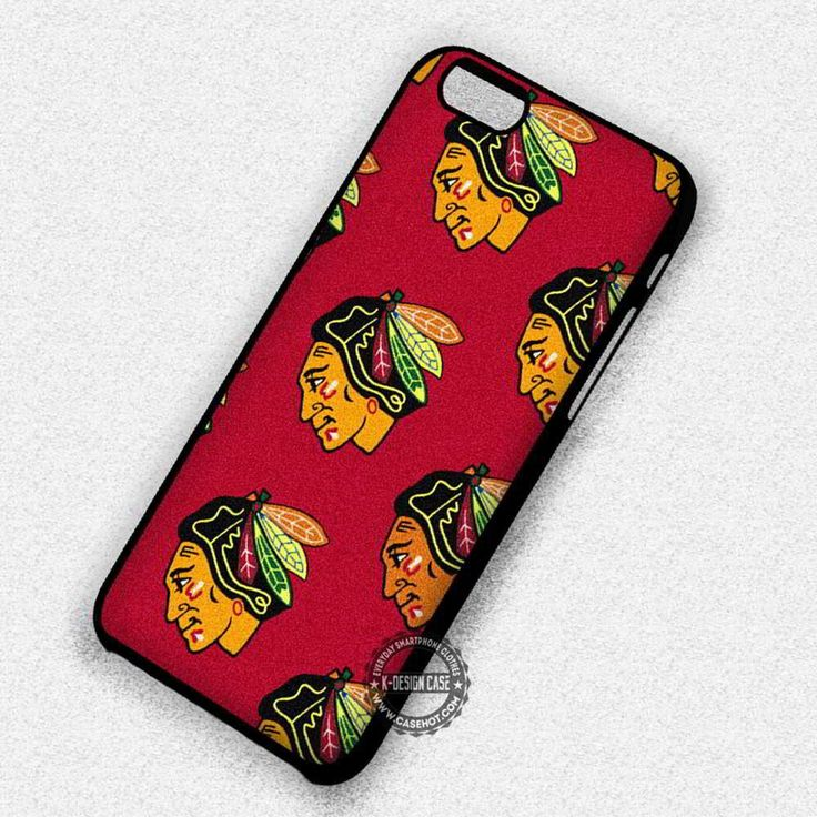 Blackhawks Pattern NHL Chicago - iPhone 7 6s 5c 4s SE Cases & Covers