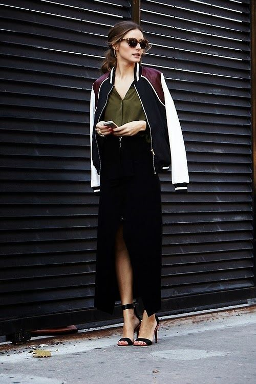 20 Great Looks with a bomber jacket | 20 looks décontractés avec un bomber #streetstyle