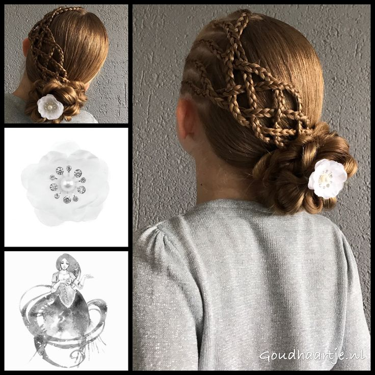 Cornrows into a loose five strand braid and bun with a beautiful flower from the webshop www.goudhaartje.nl (worldwide shipping). Hairstyle inspired by: @brianasbraids (instagram) #hair #hairstyle #braid #braids #hairstylesforgirls #plait #trenza #peinando #прическа #pricheska #ヘアスタイル #髮型 #suomiletit #zöpfe #frisuren #fläta #fletning #beautifulhair #gorgeoushair #stunninghair #hairaccessories #hairinspo #braidideas #amazinghair #updo