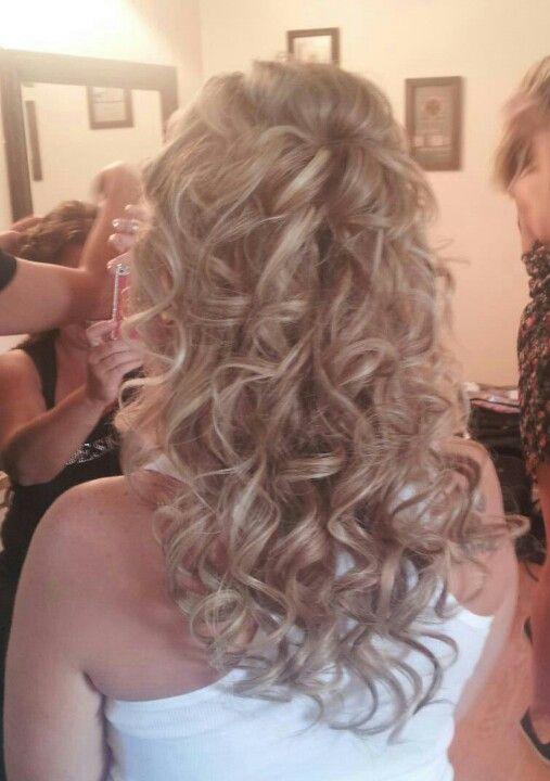 My half up half down wedding hair www.facebook.com/KatiesBeautyandtheBeach