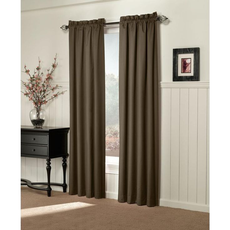 Sun Zero Semi-Opaque Brighton Chocolate (Brown) Thermal Lined Curtain Panel (Price Varies by Size)