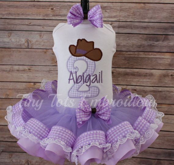 Cowgirl Tutu Outfit  Cowgirl Birthday Outfit by TinyTotsEmbroidery
