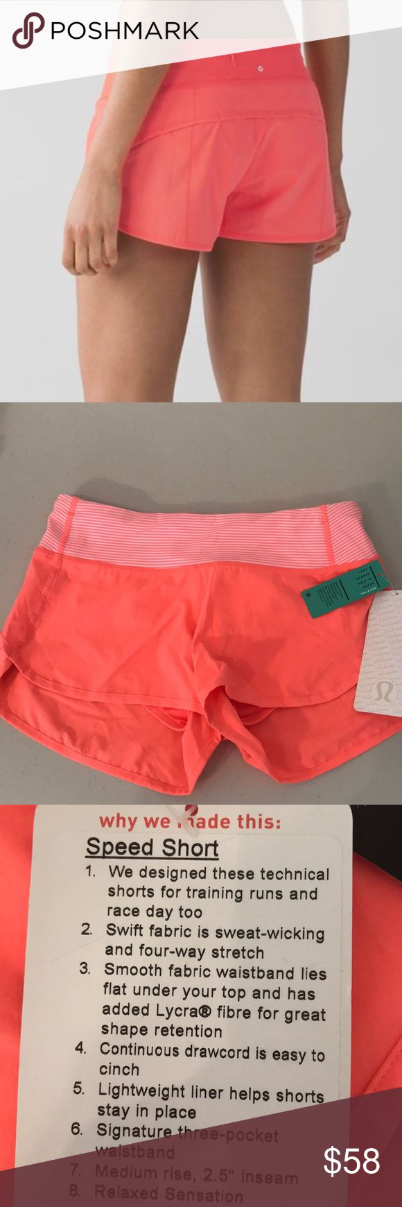 "NWT GRPF LULULEMON SPEED SHORT - - Size 4 Brand: Lululemon Athletica Speed Short 2.5 "" inseam           Condition: New with tag 
