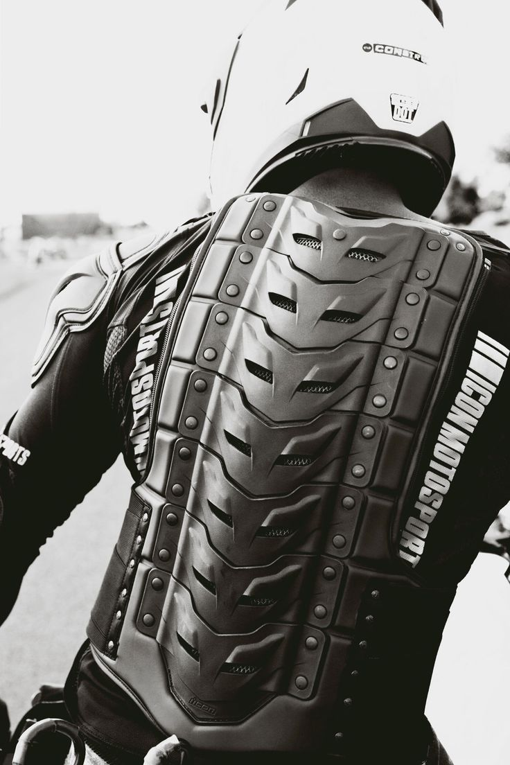 Back Protector Icon Motorcycle Gear