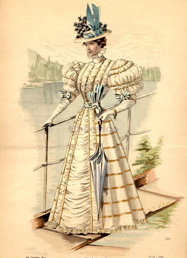 Walking dress, 1896