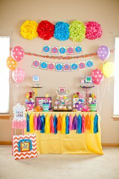 17 best images about cumplea os colorido on pinterest - Decoracion para cumpleanos infantiles en casa ...