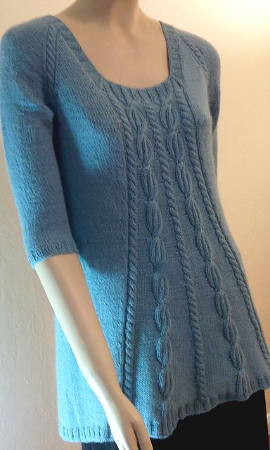 Ravelry: Tamara Square Neck Top pattern by Faina Goberstein