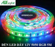Đèn led dây 5050 cuộn 5m 12v RGB