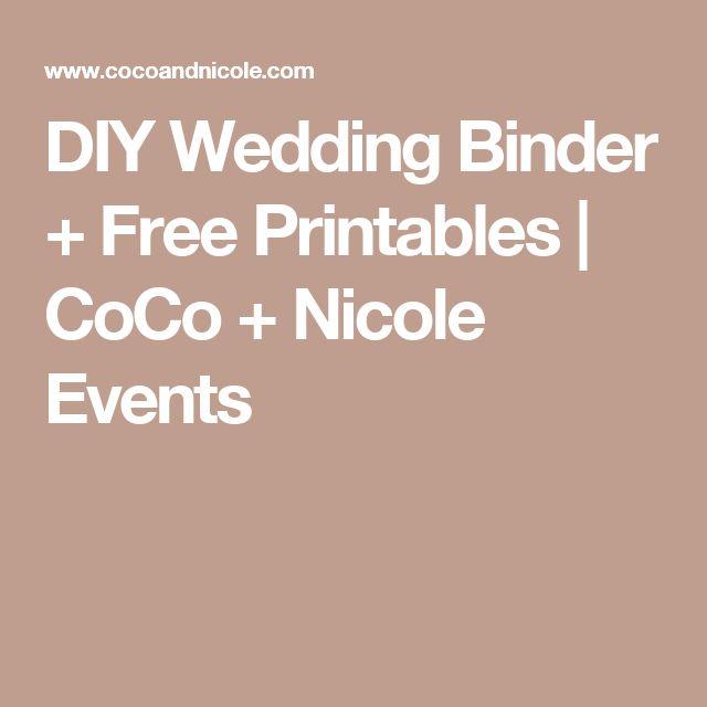 diy wedding binder templates - diy wedding binder free printables wedding binder