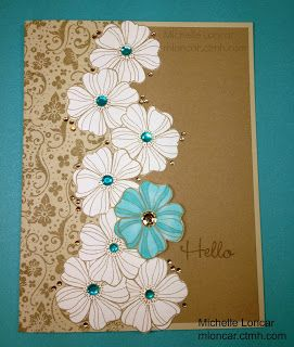 card by Michelle Loncar.... love, love, love it.... the colors are delish!