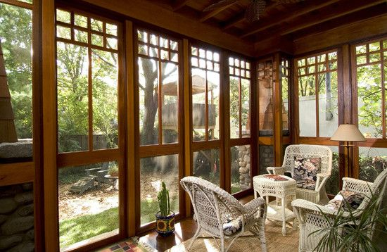 5753 best images about a log cabin in the enchanted wood for Craftsman screened porch