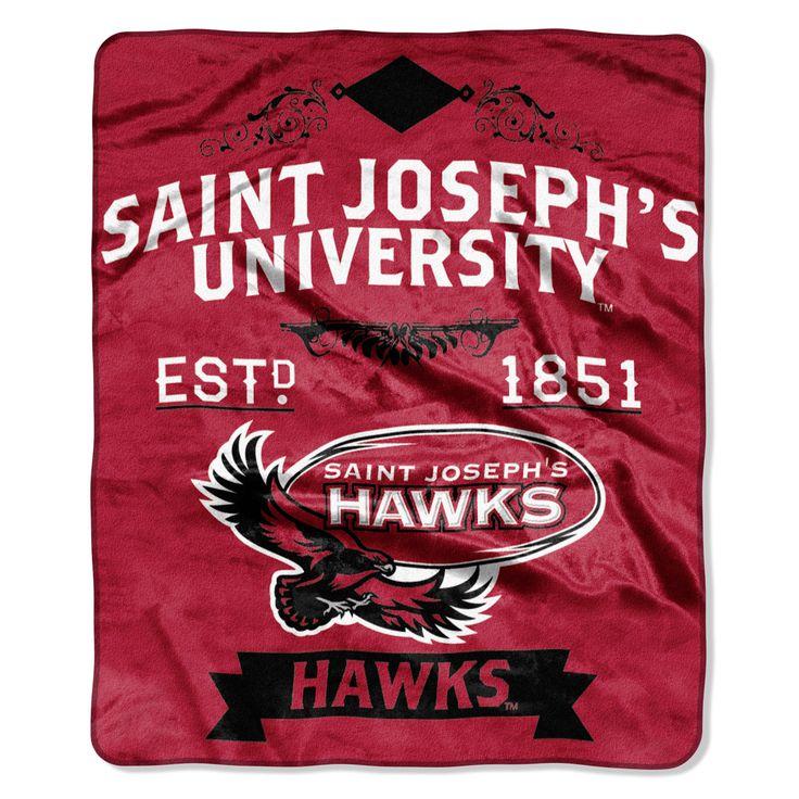 "Saint Josephs College Label 50""""x 60"""" Raschel Throw"