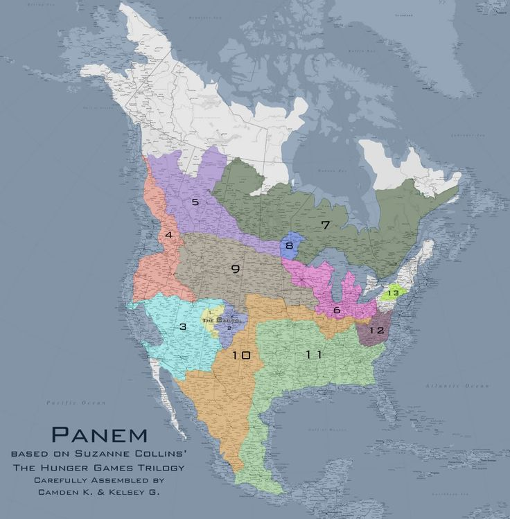 Map of Panem A NerdFriday Endeavor 92