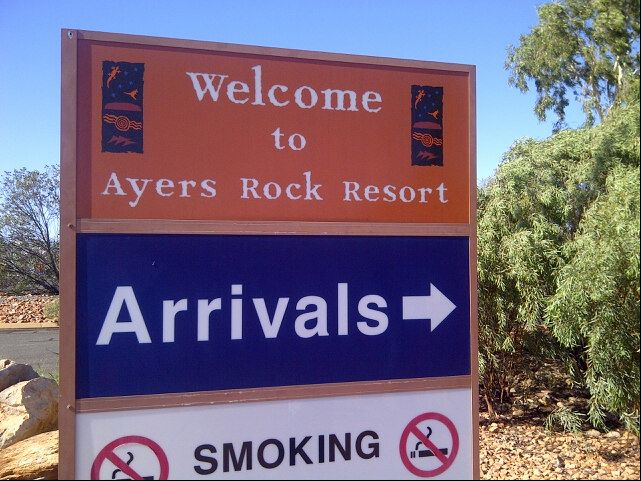 Ayers Rock Connellan Airport (AYQ) in Yulara, NT