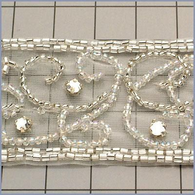 6 YARDS Crystal, Bead Trim for Bridal and Wedding Projects. $168.98, via Etsy.