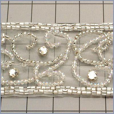6 YARDS Crystal Bead Trim for Bridal and Wedding by allysonjames, $168.98